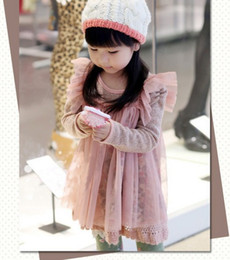 Wholesale Autumn Winter Children s Dress Kids Clothing baby girls clothes princess grenadine wool girls dress