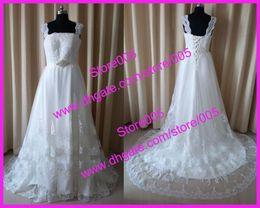 Wholesale 2012 ball gown cap sleeve lace appliqued court train tulle bridal wedding dresses sash W244