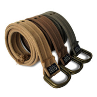 Wholesale Holiday Sale Men s D ring Belt High Quality Double Exhaust Eye100 Cotton Canvas Belts Colors