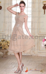 Wholesale Real Pictures New Style V neck A line Gown Fashion Beaded Chiffon Mother Of The Bride Dresses