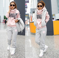 Wholesale 2012 hot on sale sports hoodie set fashion hoodies sweater pant vest