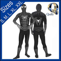 Animal animal zentai - Hot Sale Halloween Lycra Spandex Spiderman Hero zentai Suit Cosplay Costume S XXL Black
