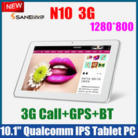 Wholesale Sanei N10 Dual Core G Android Tablet PC With G Sim Card Slot inch IPS HD screen Bluetooth GPS Dual Camera
