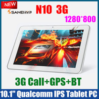Wholesale 3PCS quot G SIM Call GPS Bluetooth IPS Tablet PC Android Qualcomm Dual Core G RAM SANEI N10