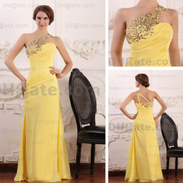 2015 Spring Fashion Evening Party Dresses One Shoulder Rhinestones Beaded Sheer Strap Actual Images