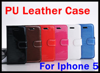 pu leather For Apple iPhone  PU Wallet Credit Card Stand Leather Case Cover Pouch for iPhone 5 5G iPhone5