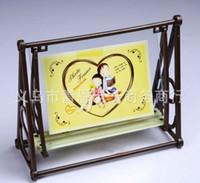 Wholesale Hot sale Creative swing frame inch inch PVC phase frame lovely baby picture frame