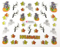 Wholesale Halloween D nail art sticker designs nail decals UK wrap decoration Discount style
