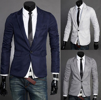 Men Other Formal Fashion Silm Fit Stylish Mens V Neck One Button Blazer Suit business Coat Jacket