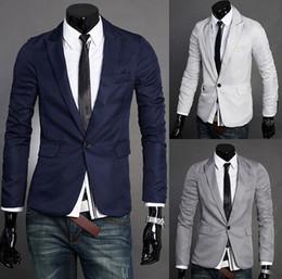 Wholesale 2016 Fashion Silm Fit Stylish Mens V Neck One Button Blazer Suit business Coat Jacket