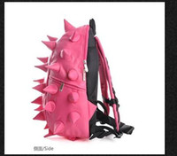 Wholesale New Punk Hedgehog Spike Boy girl backpacks satchels shoulder bags Slanting pink
