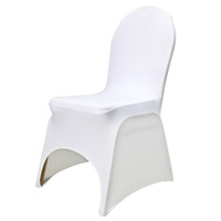 Wholesale 100pcs white spandex banquet chair cover with an arch on feet for hotel party wedding