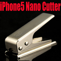 Wholesale DHL EMS Free Nano Micro SIM Cutter For Apple iPhone stainless steel R SIM adapter iP5 efit iPhone5