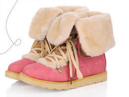 winter snow boots female boots cotton increased in flat Martin boots locomotive boots( 3colors)