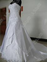 sexy wedding dresses - Custom Made Luxurious Sexy Sweetheart Satin Lace Chapel train Wedding Dresses Wedding dress