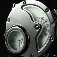 Fashion Men's Quartz FREE SHIPPING NEW OULM QUARTZ MILITARY ARMY WATCH JAPAN MOVEMENT DUAL TIME ZONE 50PCS 01-0140011