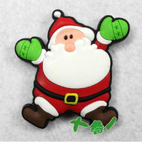 Wholesale The Creative Kids Gifts cartoon soft rubber fridge magnet Santa