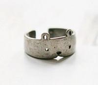 Moda antigua plata retro asombroso lindo oso ajustable anillos KJ0131134-silver