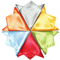 Wholesale satin hankies men s pocket handkerchief solid color hanky tower snot rag Pocket square Pocket towel