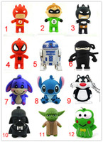 Wholesale Real Capacity G GB GB GB GB Cartoon USB2 Flash Memory Drive Stick