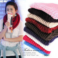 Wholesale Winter knitting Wool Collar Neck Warmer Scarf Shawl Colors NEW