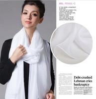Long white silk scarf - Pure White Chiffon Scarf solid white silk chiffon scarf chffon scarf silk scarf