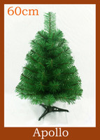 Wholesale 60cm Mini Christmas Tree Artificial DIY Plastic Xmas Decoration Holiday Santa Tree Ornament Fairy