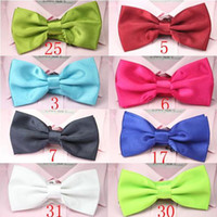 Wholesale solid color bow ties neck tie knot men s necktie bows colors bowtie