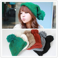 Wholesale Korean Style Winter Cloches Hats Caps for Women Cotton Acrylic Colors