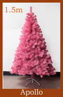 Wholesale 1 m Artificial Christmas Tree DIY Plastic Xmas Decoration Santa Tree