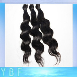 Wholesale 100 natural human hair bulk quot quot body wavy Peruvian bulk hair for braiding hair