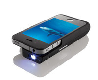 Wholesale MP07 Mini Pocket DLP Projector for Iphone S by Telstar w h tripod built in MAH battery