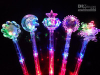 Wholesale NEW STYLE LED Toys Flashing Light Sticker Fairy Wand Party Concert Christmas Halloween Toys