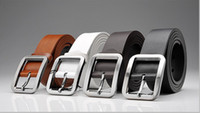 Wholesale Genuine Leather Wide Belts For Men Designer Simplicity Style Formal Office Mens Brand New Belt