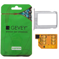 Wholesale Newest Supreme Gevey Unlock Sim Card for iPhone Green Package