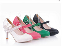 Wholesale 4 Color Availabel Woman Dress Shoes Brand New Girl s Shoes Ladies s Spring Autumn High heeled Shoes