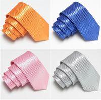 Wholesale solid color slim ties skinny tie plaid men s ties neck tie necktie neck ties