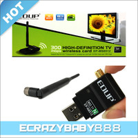 Wholesale 300Mbps USB WiFi High Definition TV Wireless Card Adapter Supports HD LCD TV Player HDTV