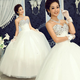 Wholesale 2012 Sparkle Princess Ball Gown Sweetheart Acrylic Rhinestones Tulle Wedding Dresses Bridal Gowns
