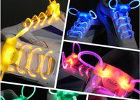 Home LED Shoelace  The 2nd Gen Neon Colorful LED Flashing Shoelaces Disco Light up Shoelace Shoe laces (2pcs pair)