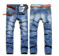 Wholesale Brand New Classic Design Trousers Scratch straight cylinder Men s Jeans Size J014