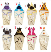 Wholesale 8 color Beach Costume Coat Hooded Towel Bathrobe Shower Party Cosplay Bath Robe L W CM pc