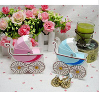 Favor Boxes Pink Paper 100pcs lot baby car Sweetbox Wedding favors gift party birthday boxes lovely candy Box wc027