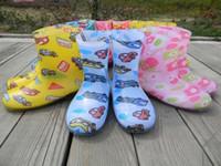 Winter kids rubber boots - kids Rubber Rain Boots Water Rain boots linda Toddler Girls Rain Boots Strawberry Flower