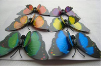 Wholesale Double Fridge Magnet cm Colorful Butterfly Magnetic refrigerator magnets