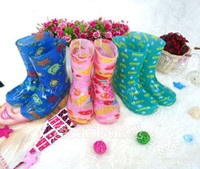 Wholesale Waterproof Rubber Rain Boots Colorfull linda Kids Girls Rain Boots Size