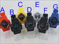 Wholesale Luxury Women watches lady hot GA100 shock Men sport digital cheap children wrist watch student candy