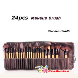 Wholesale Professional Makeup Brush Set Artificial Hair Cosmetic Brushes Fake Wood Handle without LOGO