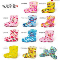 Wholesale Retail Free Ship Lowest Price Kids Rain boots Rainboots Toddler waterproof rain shoes galoshes Designs Choose size amp Color Color Freely