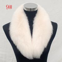 Wholesale 5 Colors Real Fox Fur Collar Fox Scarf Warm High Quality Man and Woman Shawls
